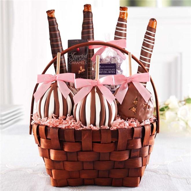 Caramel Apple Gift Basket: Classic Spring Caramel Apple Gift Basket