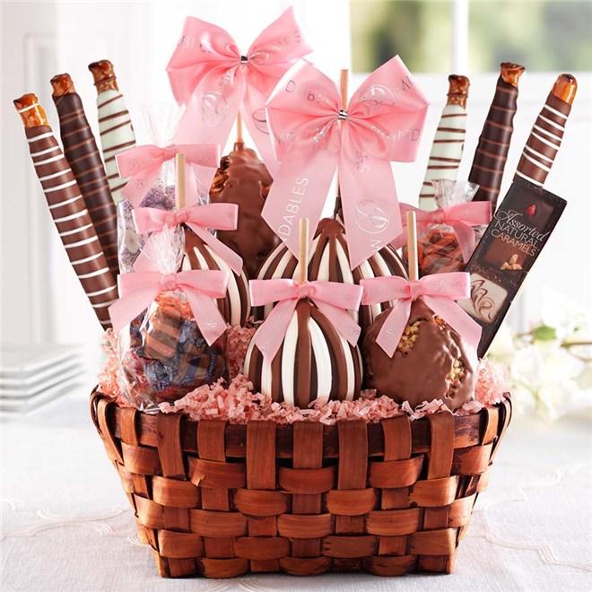 Caramel Apple Gift Basket: Premium Spring Caramel Apple Gift Basket