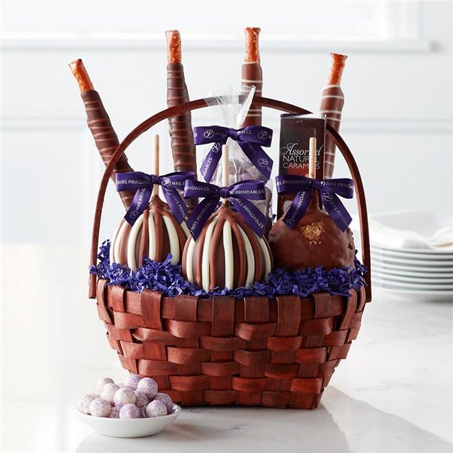 Caramel Apple Gift Basket: Classic Caramel Apple Gift Basket
