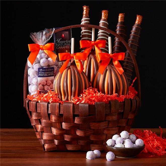 Caramel Apple Gift Basket: Classic Fall Caramel Apple Gift Basket