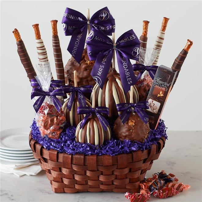Caramel Apple Gift Basket: Premium Caramel Apple Gift Basket