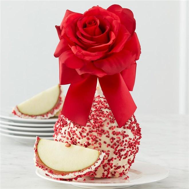 Red Rose Jumbo Caramel Apple Mrs Prindables
