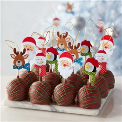 Christmas Characters Caramel Apple Gift Set