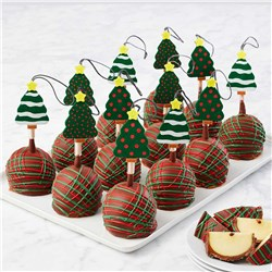 Christmas Tree Caramel Apple Gift Set