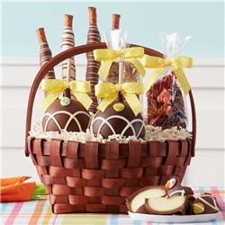 Classic Easter Caramel Apple Gift Basket