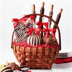 Classic Holiday Caramel Apple Gift Basket