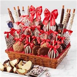 Colossal Holiday Caramel Apple Gift Basket