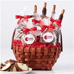 Custom Label Classic Holiday Caramel Apple Gift Basket