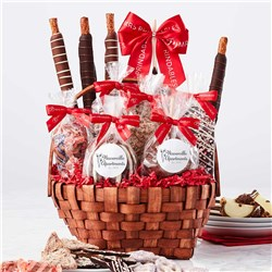 Custom Label Grand Holiday Caramel Apple Gift Basket