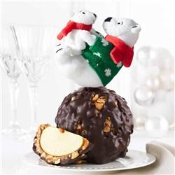 Joyful Polar Bears Jumbo Caramel Apple
