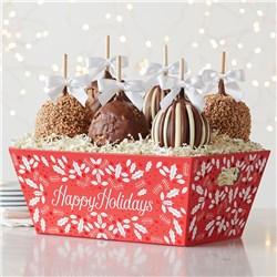 Happy Holidays Petite Caramel Apple Tray 1939040