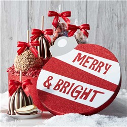 Merry and Bright Caramel Apple Gift Set