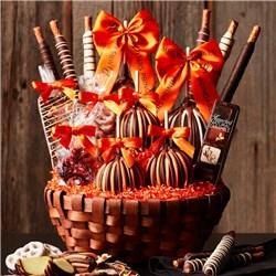 Premium Fall Caramel Apple Gift Basket