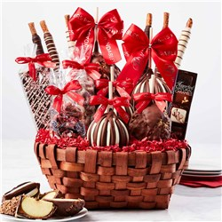 Premium Holiday Caramel Apple Gift Basket