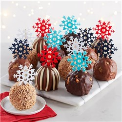 Snowflake Caramel Apple Gift Set