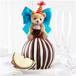 Happy Birthday Bear Jumbo Caramel Apple