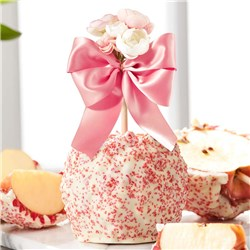 White Chocolate Cherry Blossom Rose Bouquet Jumbo Caramel Apple